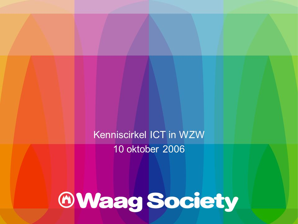 Kenniscirkel ICT in WZW 10 oktober 2006