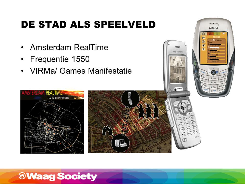 DE STAD ALS SPEELVELD Amsterdam RealTime Frequentie 1550 VIRMa/ Games Manifestatie