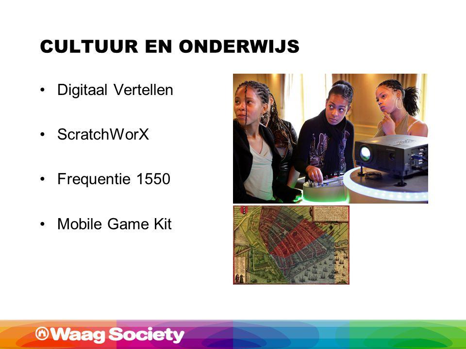 CULTUUR EN ONDERWIJS Digitaal Vertellen ScratchWorX Frequentie 1550 Mobile Game Kit