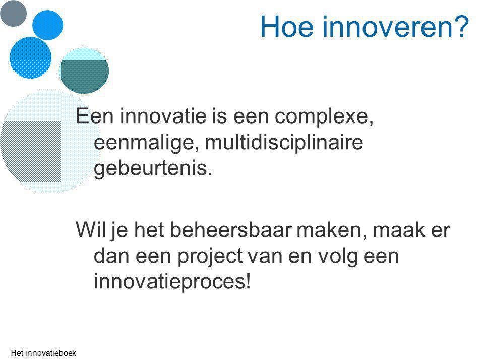 Hoe ziet het innovatieproces er uit? Het innovatieboek § 2.1