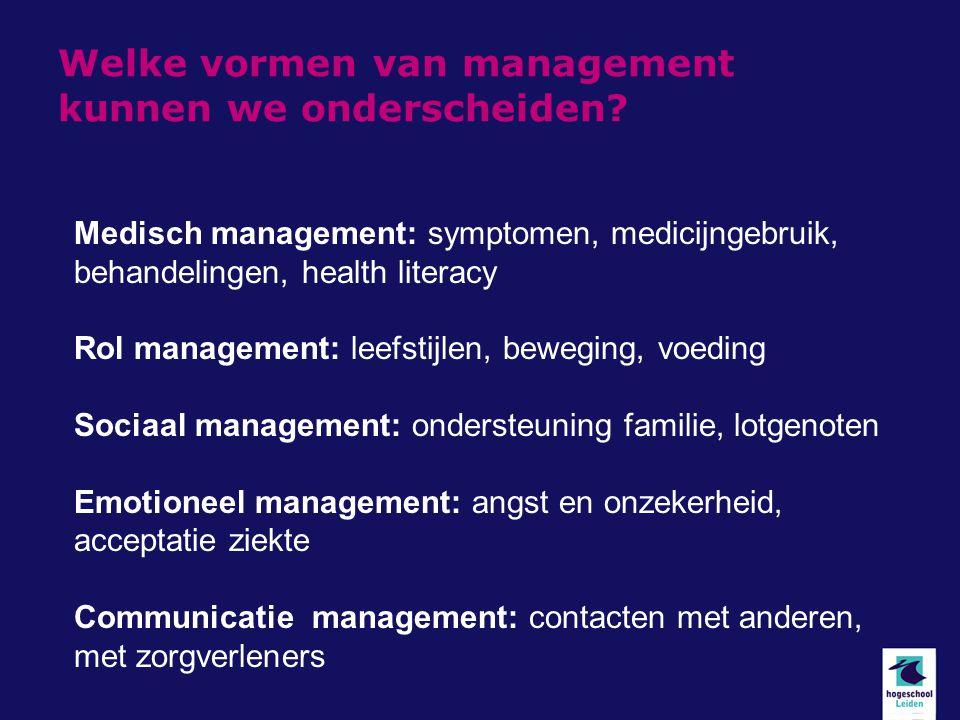 Welke vormen van management kunnen we onderscheiden.