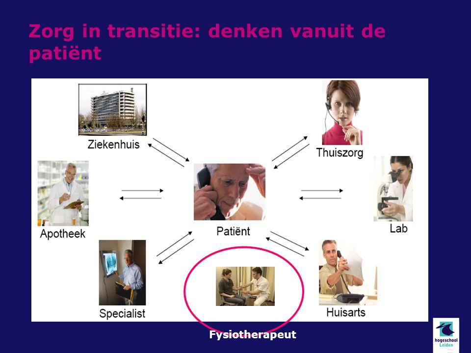 Zorg in transitie: denken vanuit de patiënt Fysiotherapeut