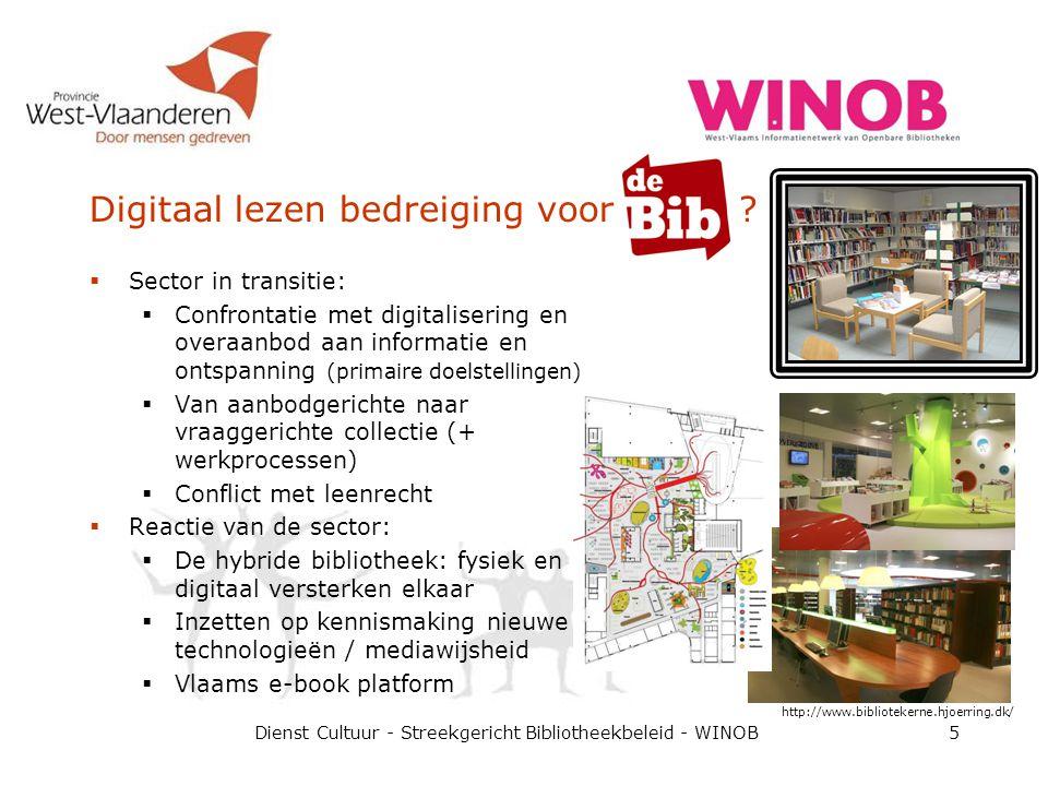 Digitaal lezen bedreiging voor ?  Sector in transitie:  Confrontatie met digitalisering en overaanbod aan informatie en ontspanning (primaire doelst