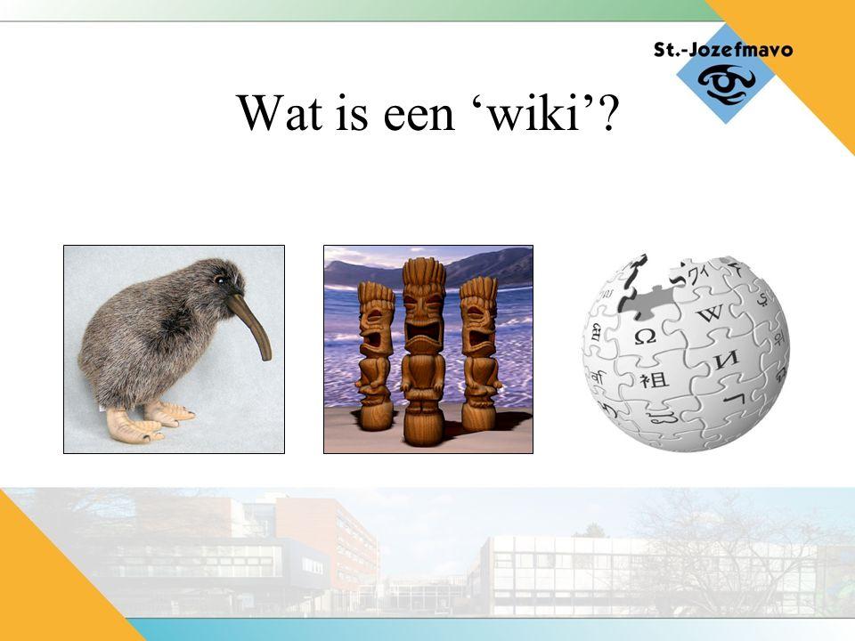 Wat is een 'wiki'