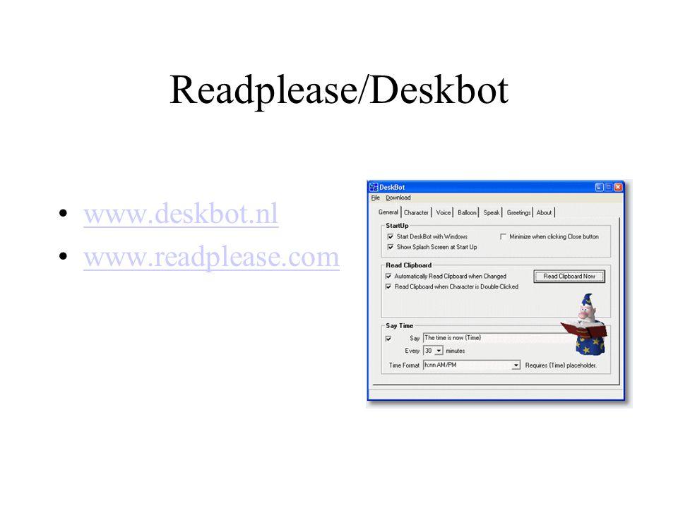 Readplease/Deskbot www.deskbot.nl www.readplease.com