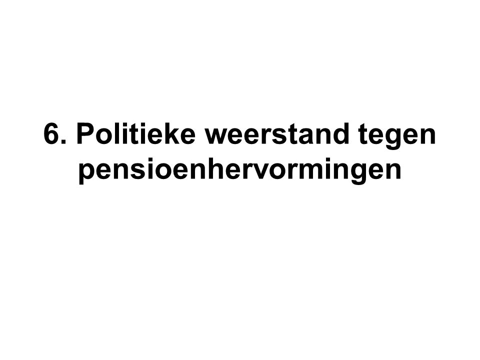 6. Politieke weerstand tegen pensioenhervormingen