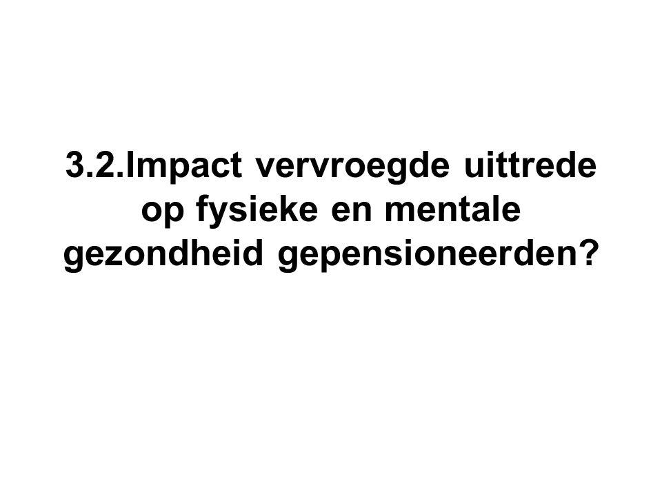 3.2.Impact vervroegde uittrede op fysieke en mentale gezondheid gepensioneerden?