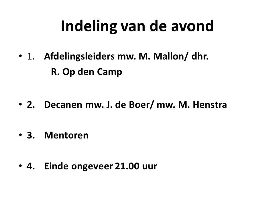 Decaan A3A/A3B/A3Cmw J.de Boer G3A/T3T/T3U mw. M.