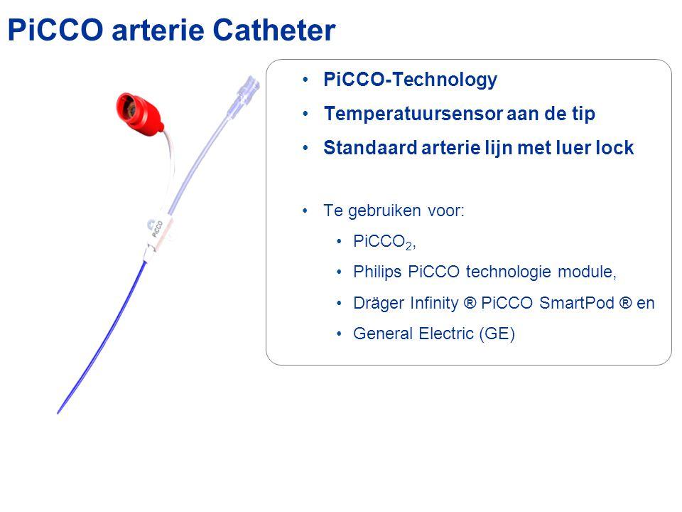 PiCCO-Technology Temperatuursensor aan de tip Standaard arterie lijn met luer lock Te gebruiken voor: PiCCO 2, Philips PiCCO technologie module, Dräge