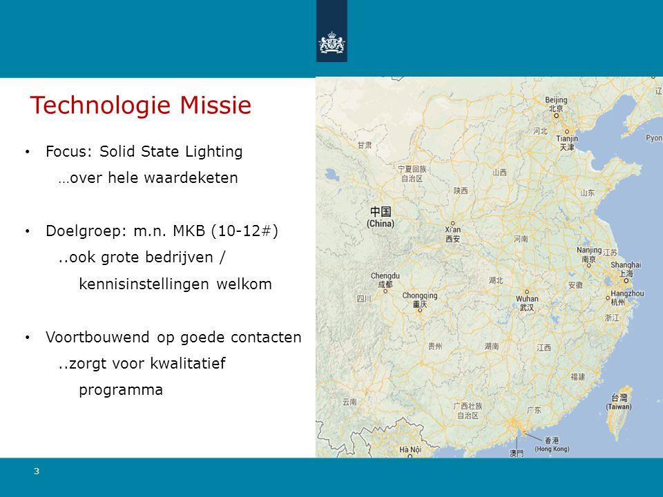 Technologie Missie Focus: Solid State Lighting …over hele waardeketen Doelgroep: m.n.