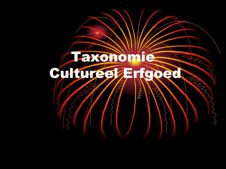 Taxonomie Cultureel Erfgoed