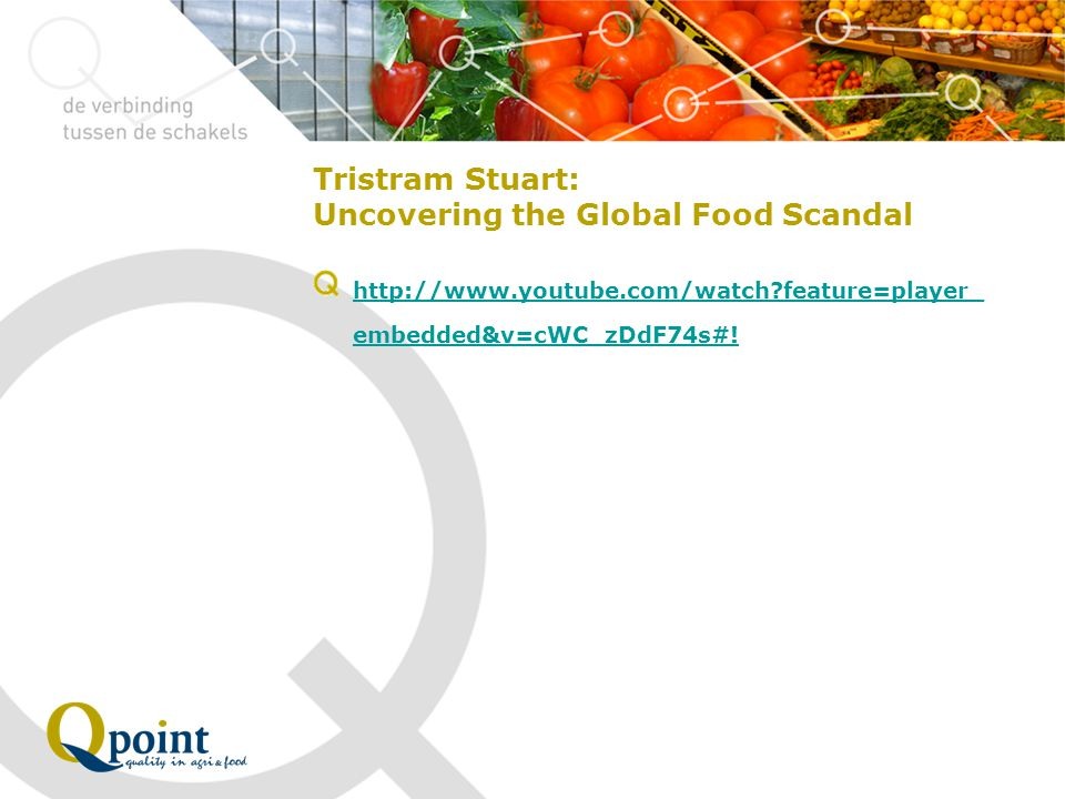 Tristram Stuart: Uncovering the Global Food Scandal http://www.youtube.com/watch?feature=player_ embedded&v=cWC_zDdF74s#!