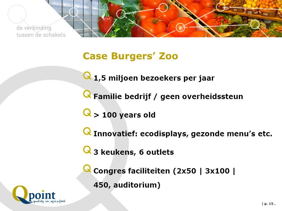 Case Burgers' Zoo 1,5 miljoen bezoekers per jaar Familie bedrijf / geen overheidssteun > 100 years old Innovatief: ecodisplays, gezonde menu's etc.