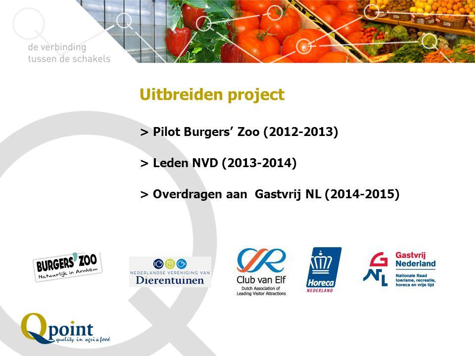 Uitbreiden project > Pilot Burgers ' Zoo (2012-2013) > Leden NVD (2013-2014) > Overdragen aan Gastvrij NL (2014-2015)