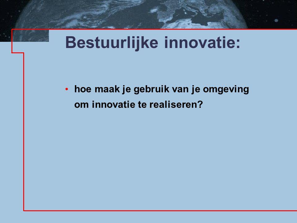 Bestuurlijke innovatie: hoe maak je gebruik van je omgeving om innovatie te realiseren?