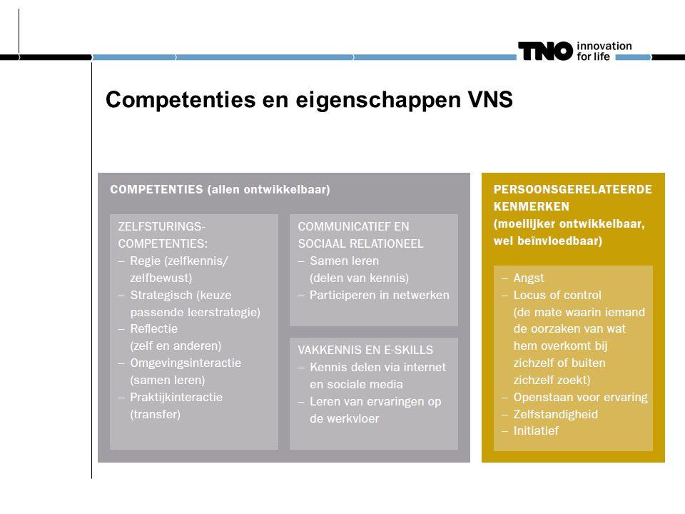 Competenties en eigenschappen VNS