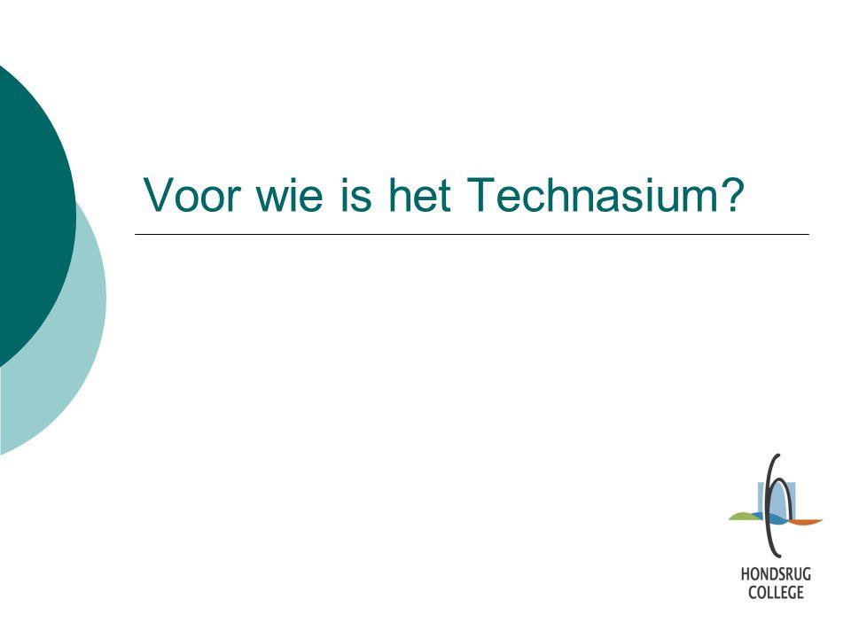 Voor wie is het Technasium?