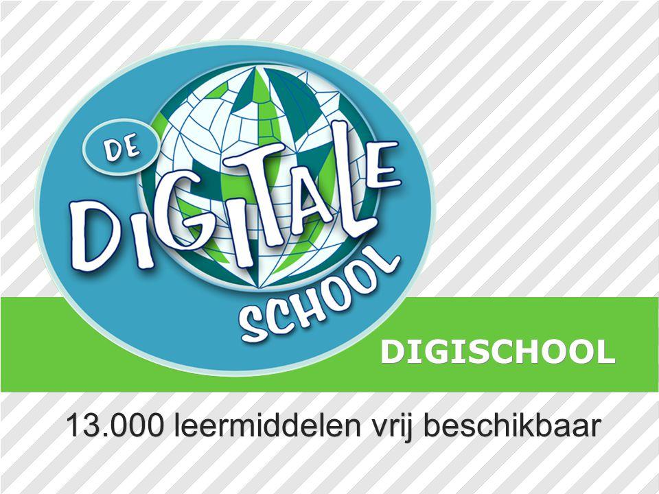 13.000 leermiddelen vrij beschikbaar DIGISCHOOL