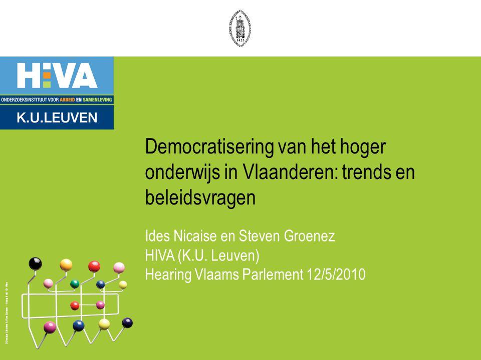 Design Charles & Ray Eames - Hang it all © Vitra Democratisering van het hoger onderwijs in Vlaanderen: trends en beleidsvragen Ides Nicaise en Steven