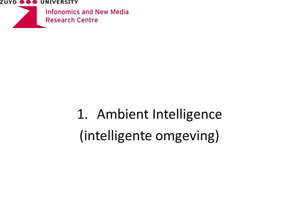 1.Ambient Intelligence (intelligente omgeving)