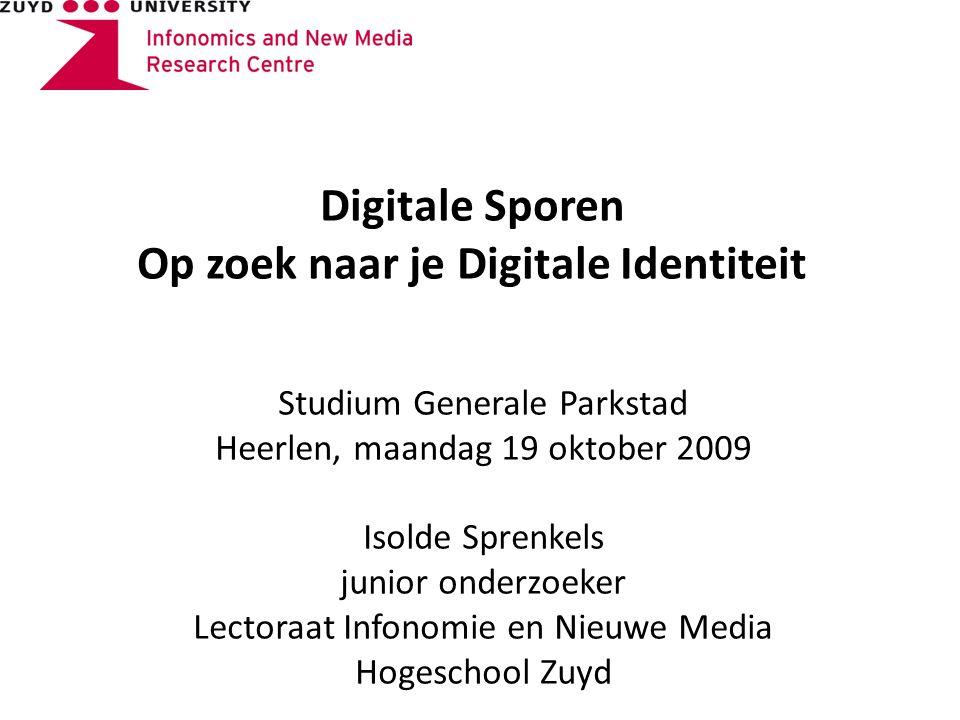 Vragen? Isolde Sprenkels i.sprenkels@hszuyd.nl http://infonomie.hszuyd.nl