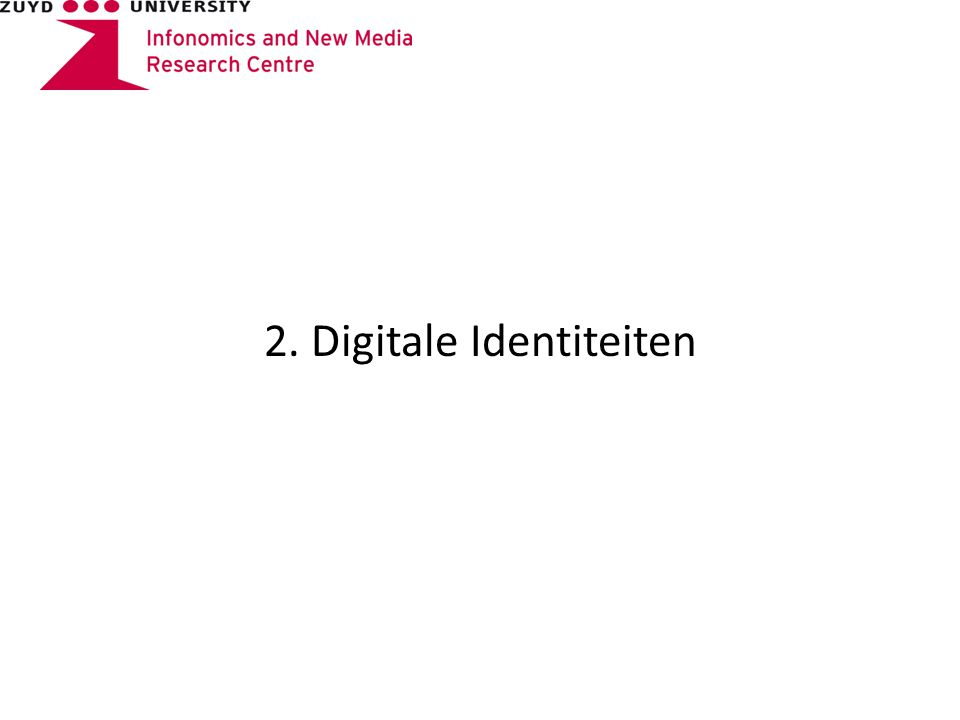 2. Digitale Identiteiten