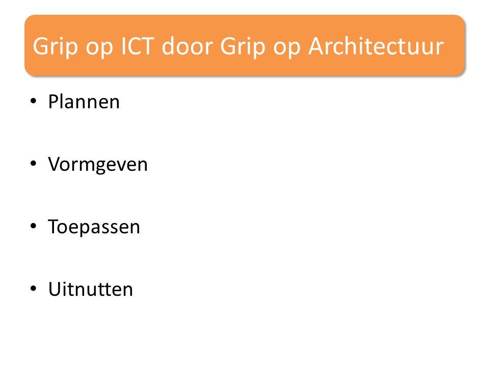 Grip op ICT door Grip op Architectuur Plannen Vormgeven Toepassen Uitnutten