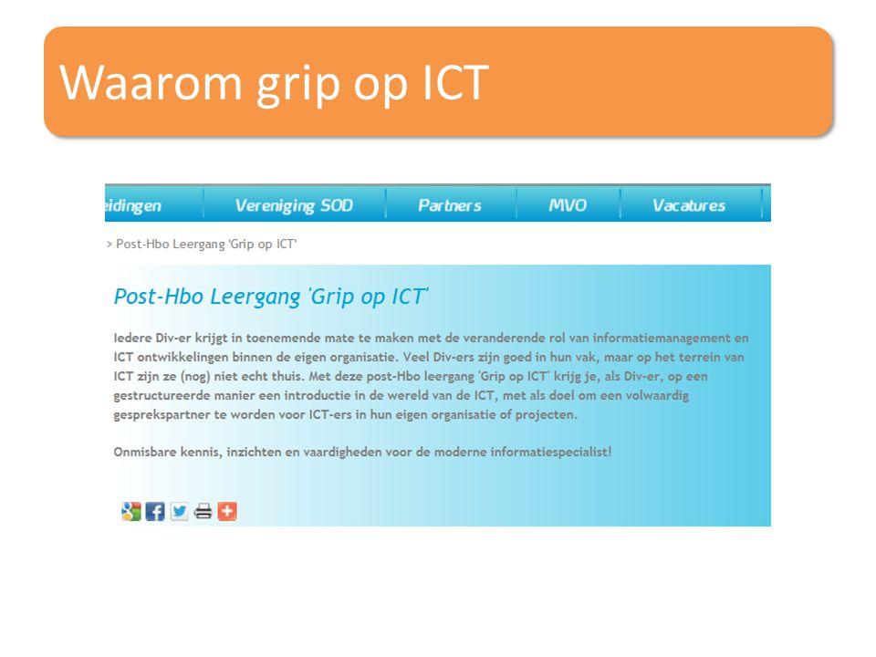 Waarom grip op ICT