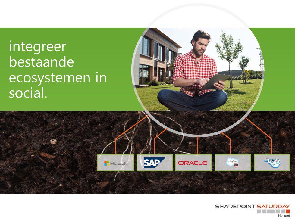 integreer bestaande ecosystemen in social.