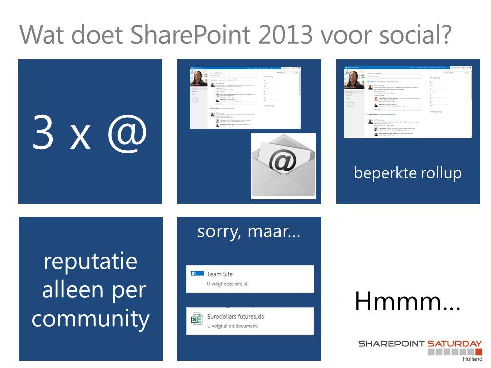 Wat doet SharePoint 2013 voor social?