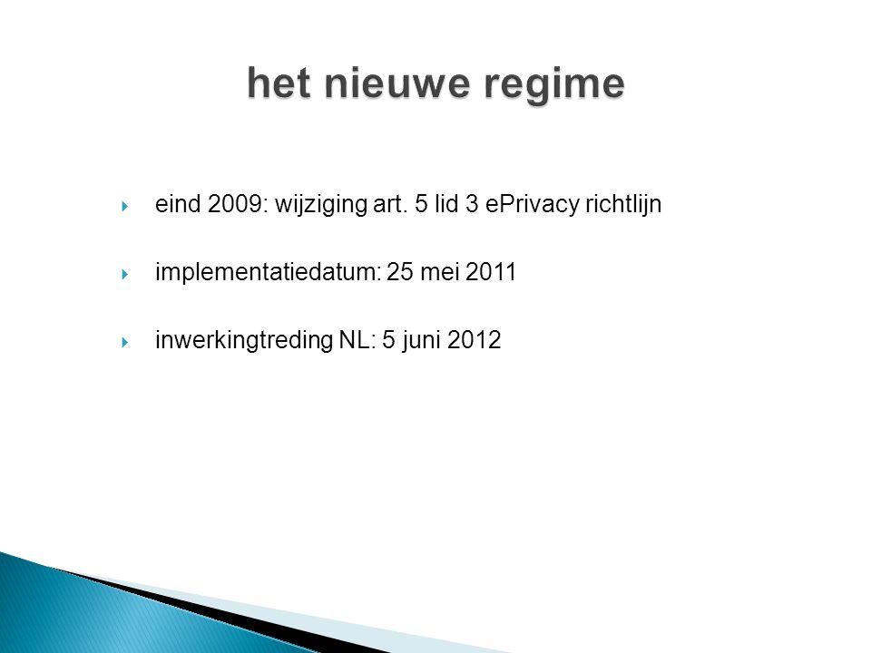  eind 2009: wijziging art.