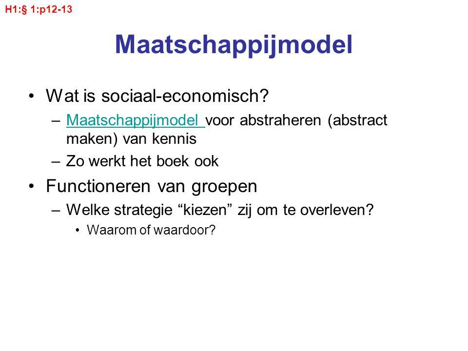 Maatschappijmodel Wat is sociaal-economisch? –Maatschappijmodel voor abstraheren (abstract maken) van kennisMaatschappijmodel –Zo werkt het boek ook F