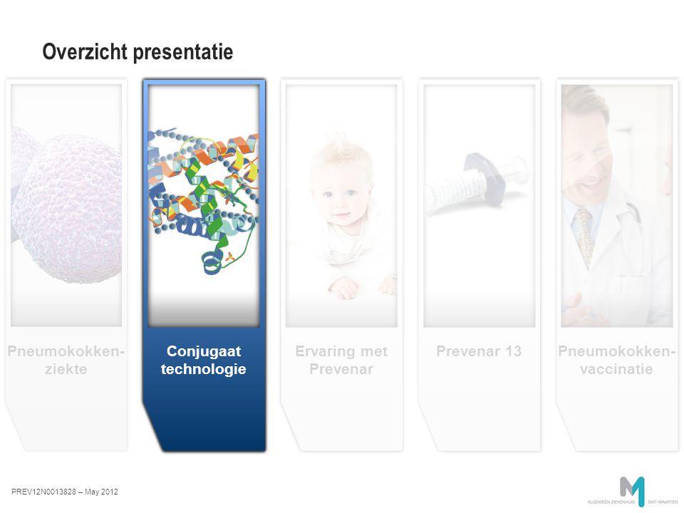 Ervaring met Prevenar Conjugate technology image en attente Conjugate technology Prevenar 13 Overzicht presentatie Pneumokokken- ziekte Pneumokokken-