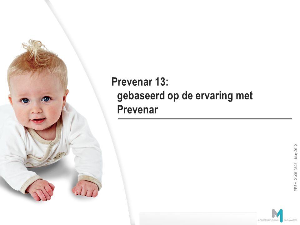 PREV12N0013828 – May 2012 Deze slides zijn eigendom van Pfizer en worden uitsluitend ter beschikkding gesteld voor medisch educatieve doeleinden – Nie