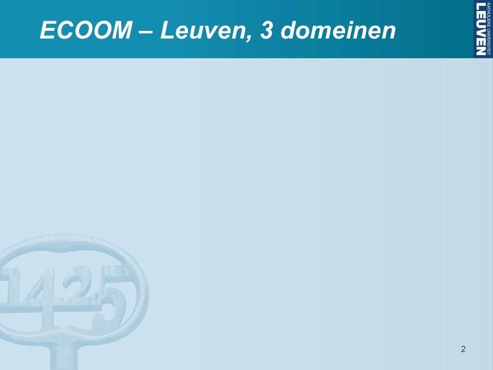 ECOOM – Leuven, 3 domeinen 2