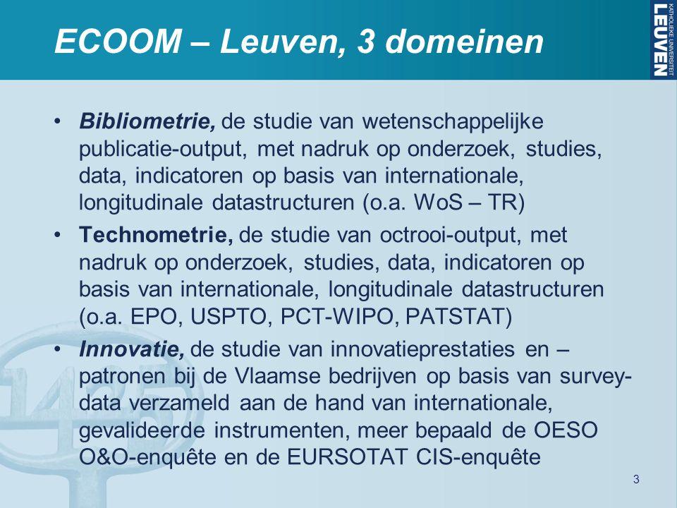 Bibliometrie, de studie van wetenschappelijke publicatie-output, met nadruk op onderzoek, studies, data, indicatoren op basis van internationale, long