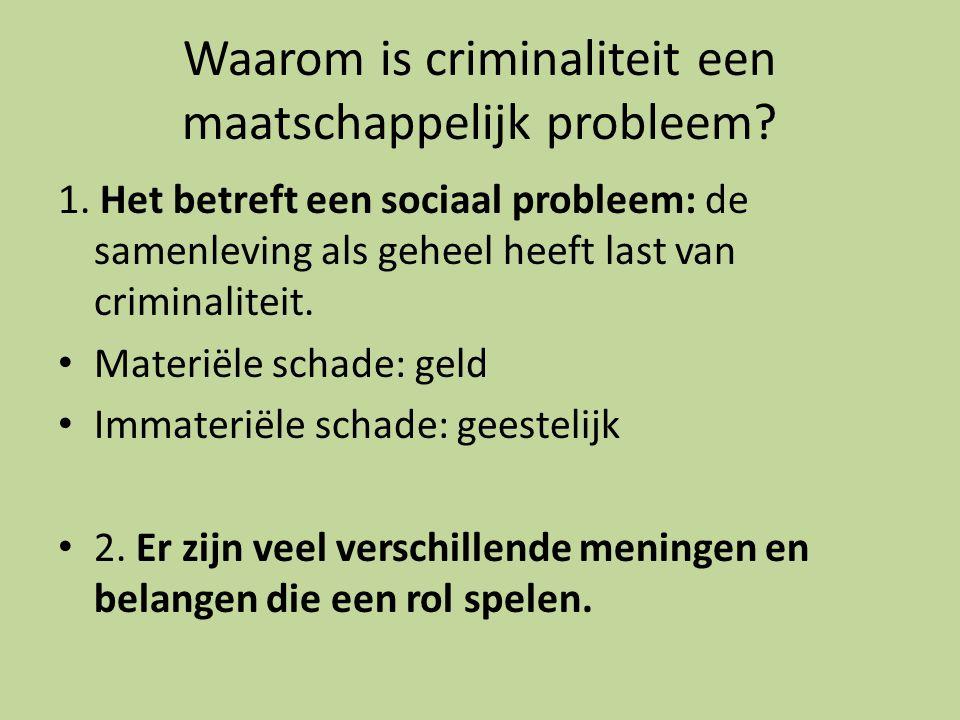 Waarom is criminaliteit een maatschappelijk probleem.
