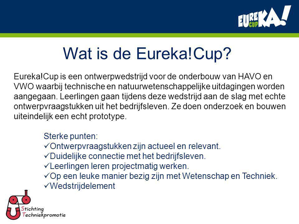 Eureka!Cup 2011 Facts & Figures: Eerste jaar waarin Stichting Techniekpromotie het project draait.
