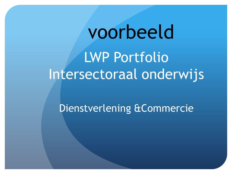 LWP Portfolio Intersectoraal onderwijs Dienstverlening &Commercie voorbeeld