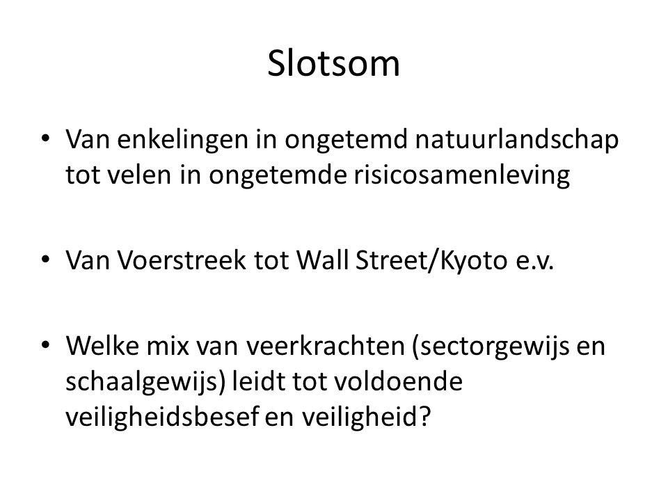 Slotsom Van enkelingen in ongetemd natuurlandschap tot velen in ongetemde risicosamenleving Van Voerstreek tot Wall Street/Kyoto e.v.