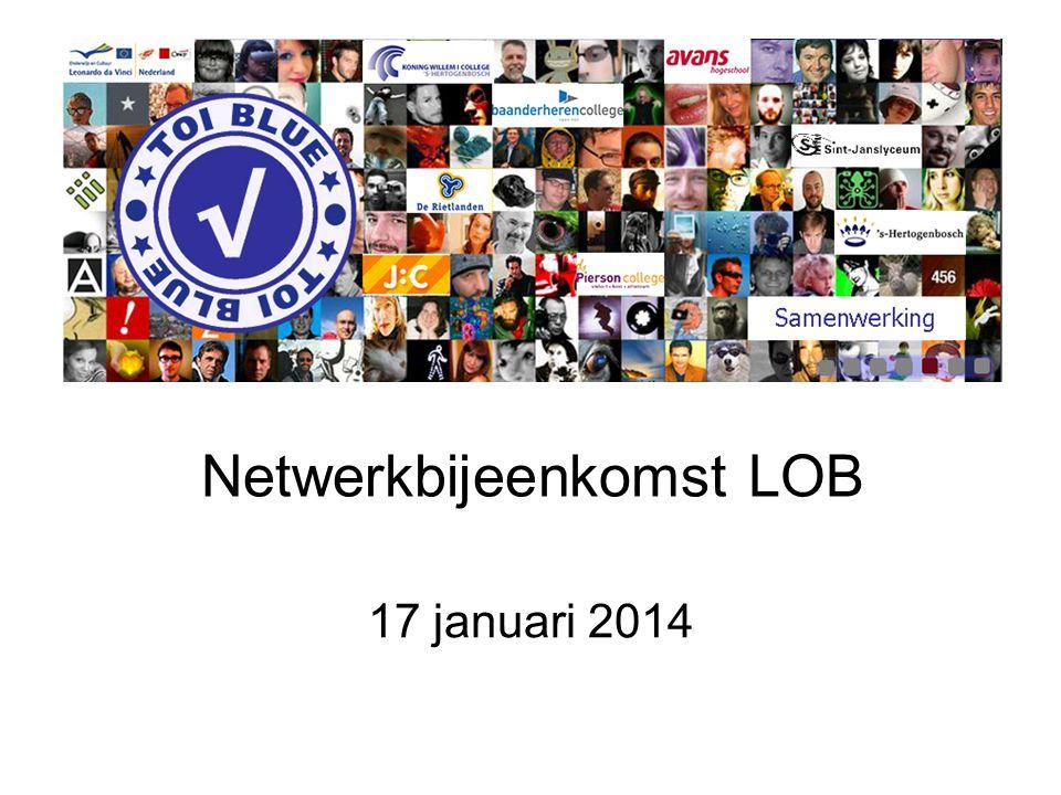 Netwerkbijeenkomst LOB 17 januari 2014