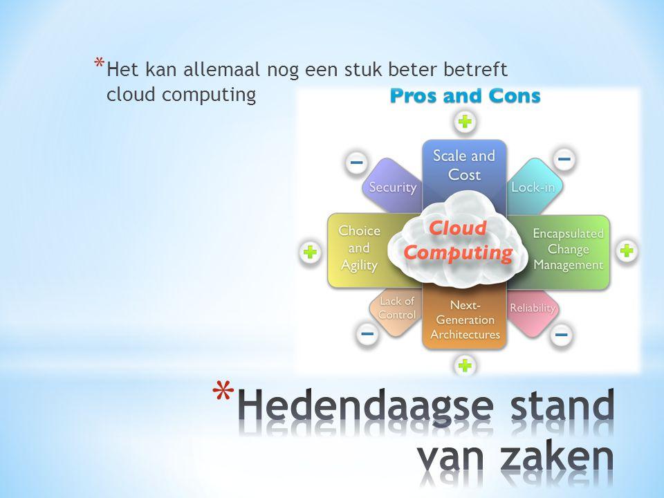 * Het kan allemaal nog een stuk beter betreft cloud computing