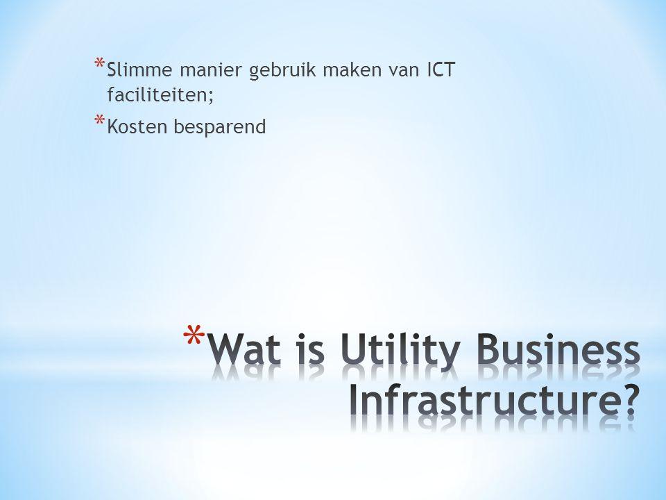 * Slimme manier gebruik maken van ICT faciliteiten; * Kosten besparend