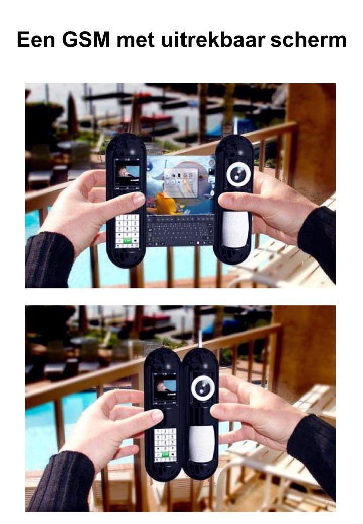 Een GSM met uitrekbaar scherm