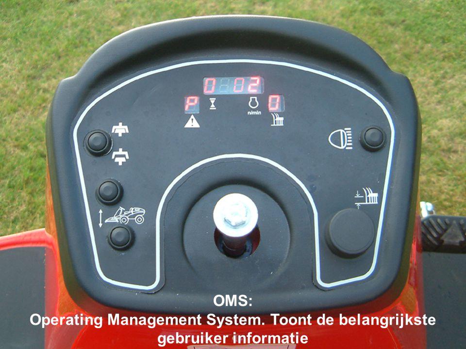 OMS: Operating Management System. Toont de belangrijkste gebruiker informatie