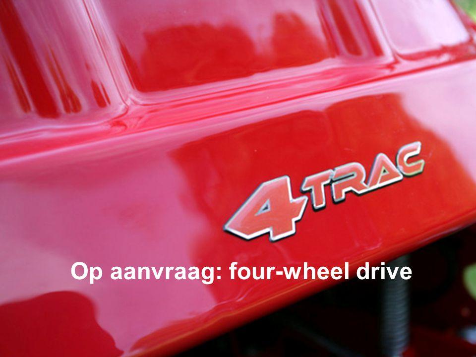 Op aanvraag: four-wheel drive
