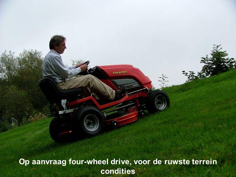 Op aanvraag four-wheel drive, voor de ruwste terrein condities