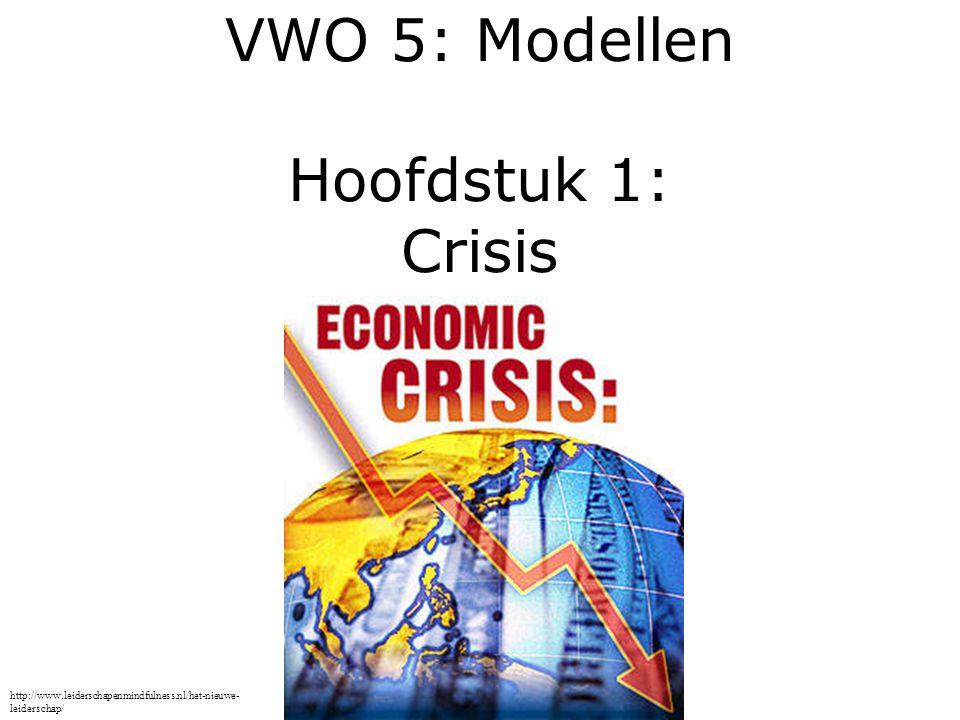 VWO 5: Modellen Hoofdstuk 1: Crisis http://www.leiderschapenmindfulness.nl/het-nieuwe- leiderschap/