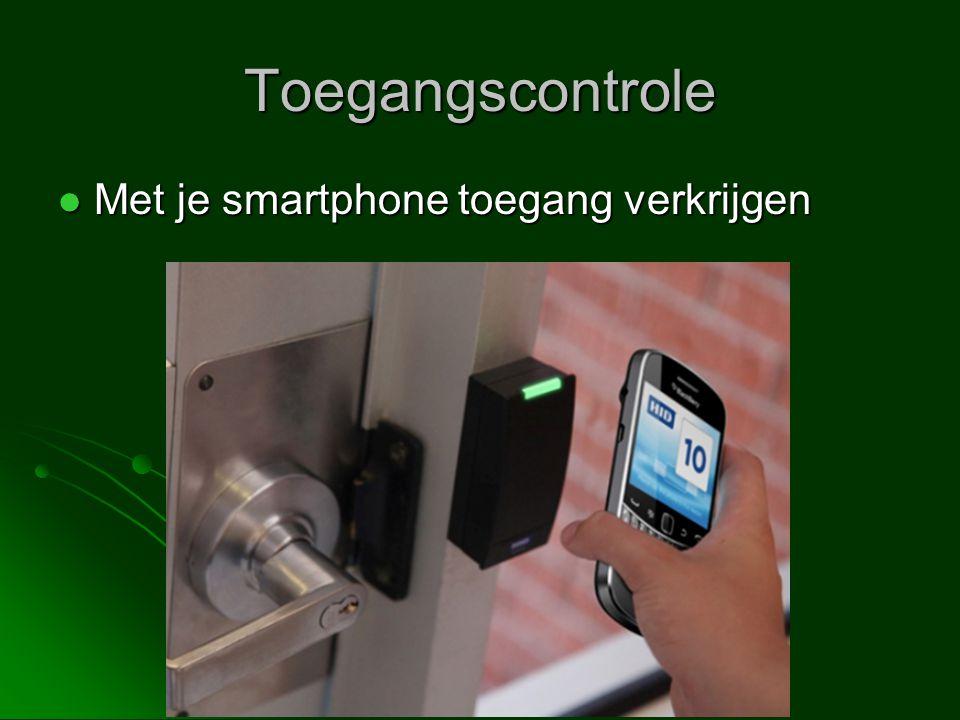 Toegangscontrole Met je smartphone toegang verkrijgen Met je smartphone toegang verkrijgen