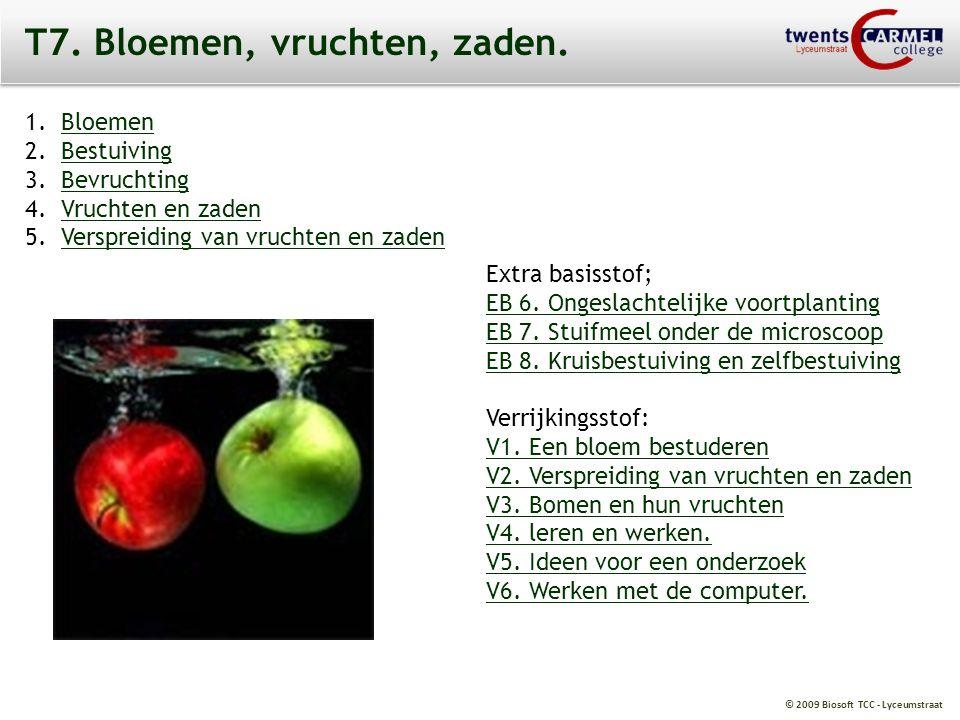 © 2009 Biosoft TCC - Lyceumstraat T7.Bloemen, vruchten, zaden.